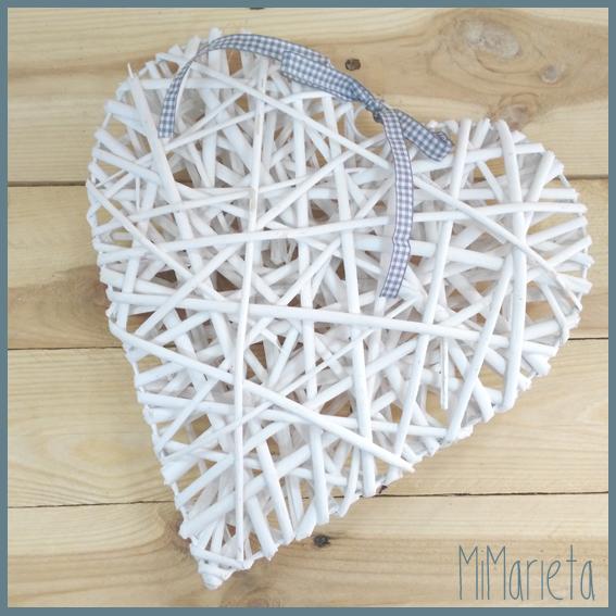 corazón ratán blanco