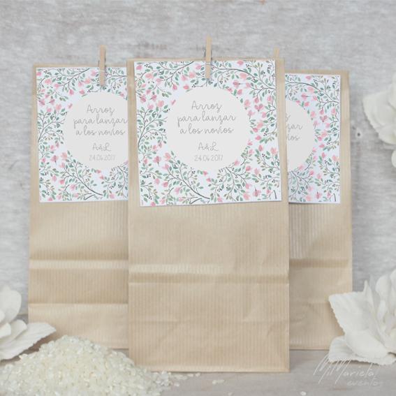 bolsas para arroz boda