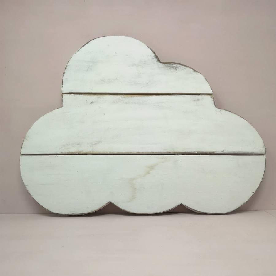 Nube Madera Blanca Decoración