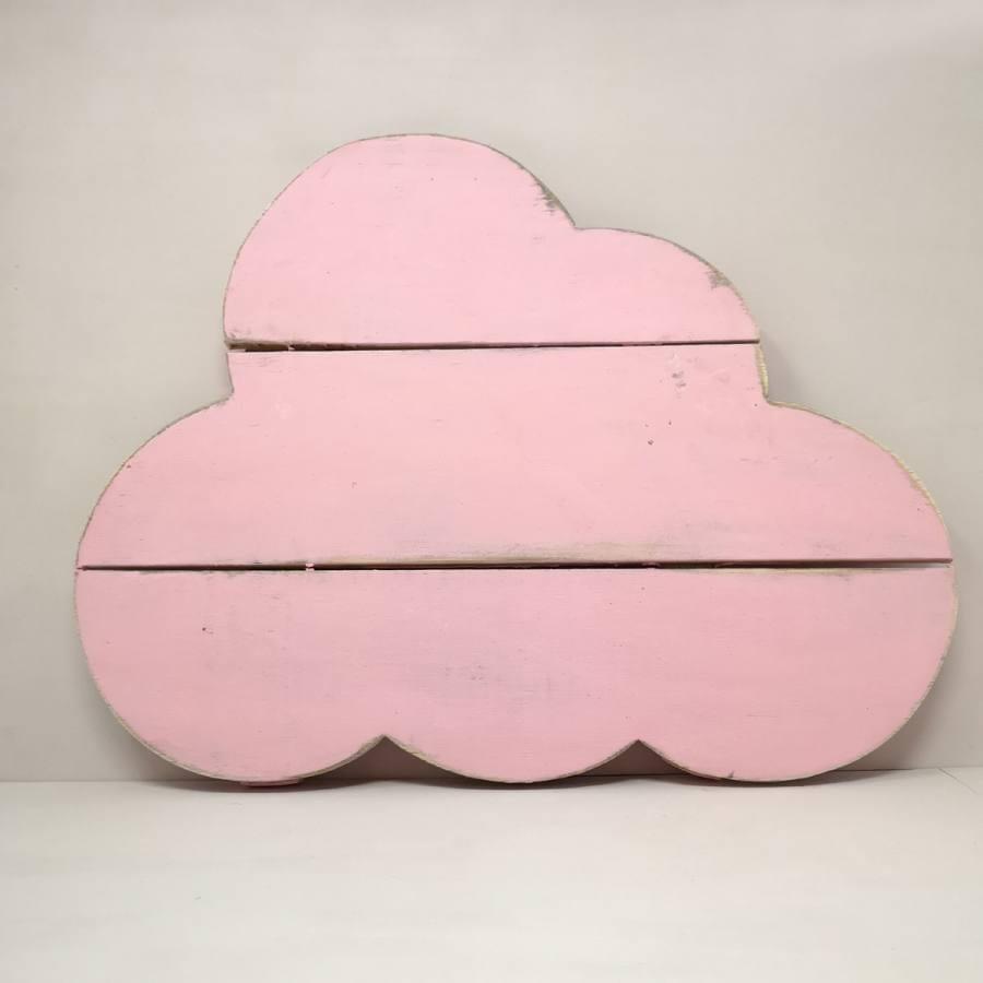 Nube Madera Rosa Decoración