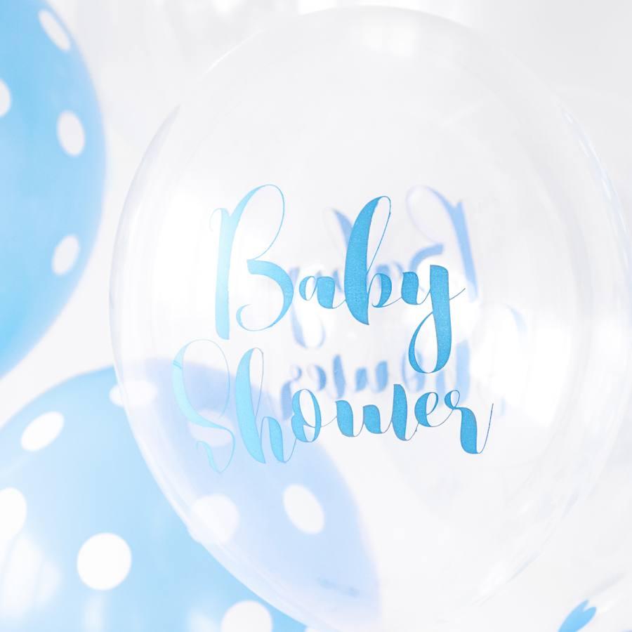 Globos 30cm. Baby Shower Azul