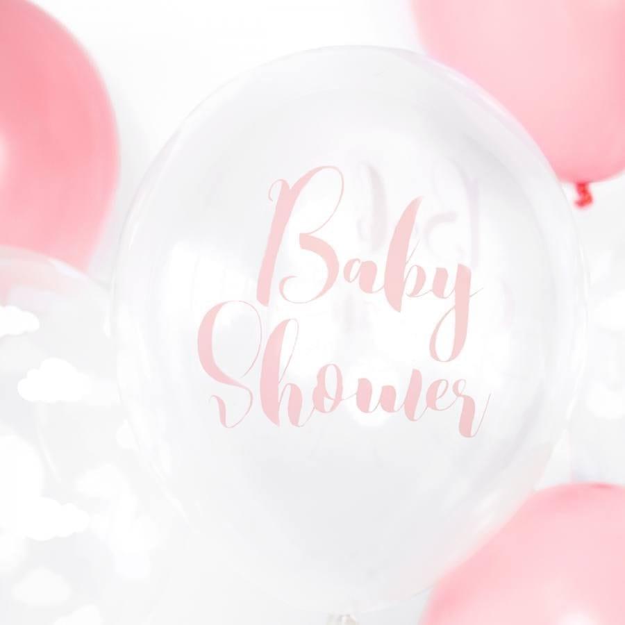 Globos 30cm. Baby Shower Rosa