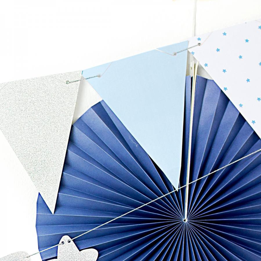 Guirnalda Azul y Plata