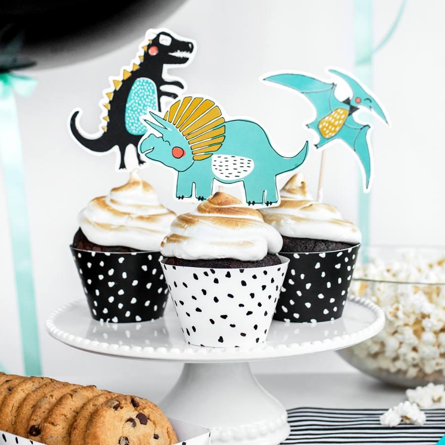 Tarrinas para Cupcakes Dinosaurios