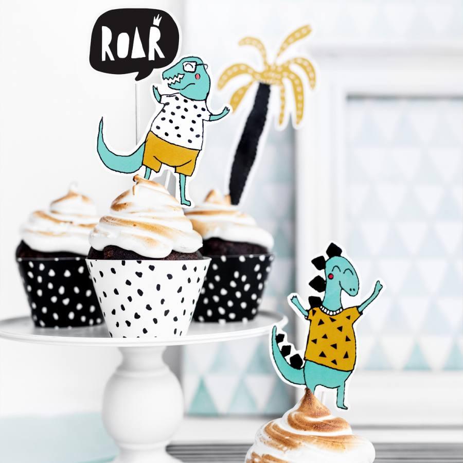 Topper Cake Dino Modelo Palmera