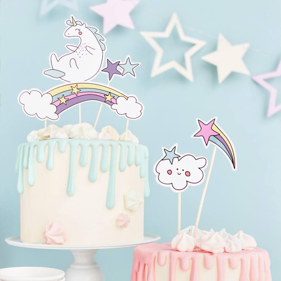 Topper Cake Unicornio