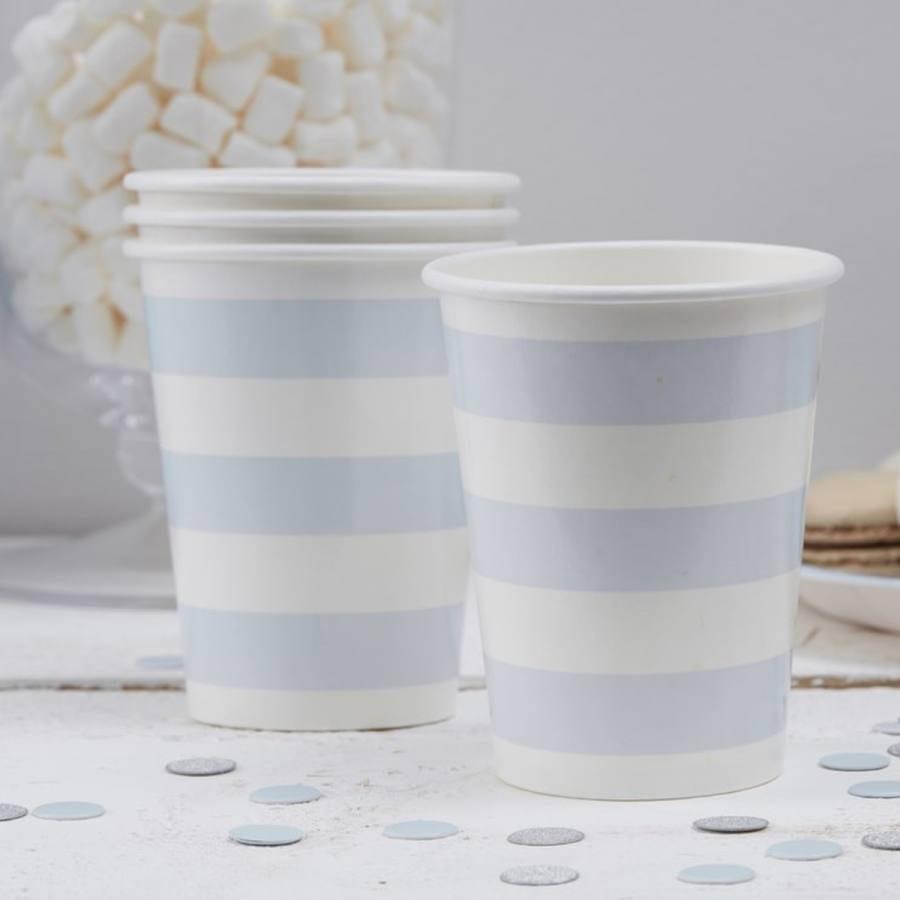 Vasos Rayas Azul