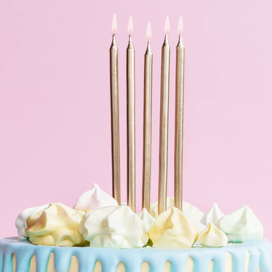 Velas Cumpleaños Doradas