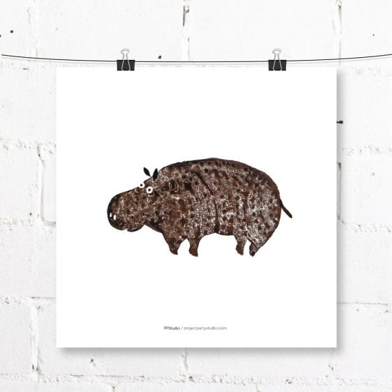 lámina hipopótamo